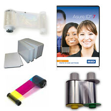 Fargo HDP5000 UV & Lamination Supplies w/ Asure ID software