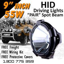 HID Xenon Driving Lights - 9 inch 55w Spot Beam 12v 24v 4x4 offroad