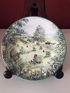 """Royal Kendal 1992 Alex Williams Collection Bone China 5"""" Plate """"June"""""""