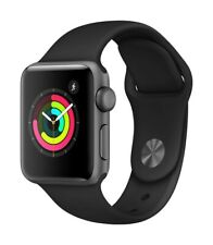 Apple Watch Series 3 GPS 38mm Space Gray Case Black Sport Band