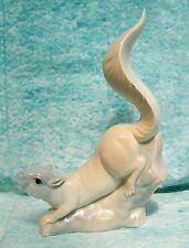 """Blue Fawn Squirrel Porcelain Figure Porcelanas Miquel Requena Valencia Spain 9"""""""