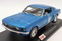 Maisto 1/18 Scale Model Car 46629 - 1967 Ford Mustang GTA Fastback - Blue