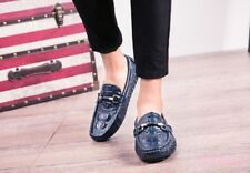 Men slip on alligator printed Moccasins Casual loafers Leather driving shoes