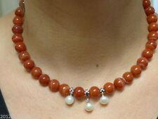 Echte Edelstein-Halsketten & -Anhänger aus Edelstahl mit Achat