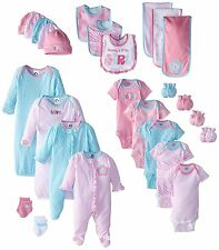 Gerber Gift Set 26 Piece Baby Girl Newborn Clothes Onesies Bodysuits Outfits New