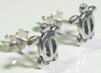 Sea Turtle Stud Earrings 925 Sterling Silver Sealife Nautical