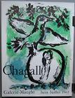 Original 1962 Gallery Poster Green Bird by Marc Chagall
