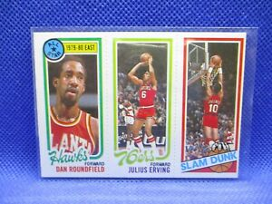 1980-81 Topps Dan Roundfield /181 Julius Erving/258 Ron Brewer SD SIXERS