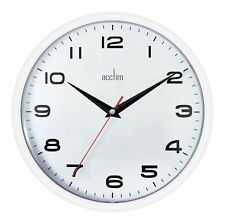 Acctim Aylesbury Wall Clock Kitchen Office Time 92301 White
