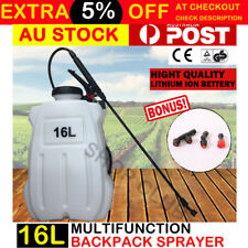 16L Portable Backpack 18V Garden Weed Sprayer Electric Battery Spot Pump Farm