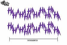 2x Joker Hahaha Serious Evil Body Windshield Car Sticker Decal 8 Purple
