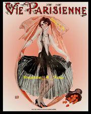 AVEC LES CEUFS risque woman Vintage La Vie Parisienne 8x10 Leonnec art print