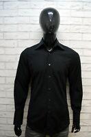 GUCCI Uomo Camicia Nera Taglia 39 Collo 15 1/2 Maglia Camicetta Shirt Man Italy