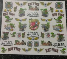 Rat Fink WATER-SLIDE DECALS FOR HOT WHEELS / MATCHBOX, 1:64 scale MADE IN USA!!!