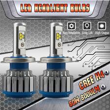 H4 9003 CREE LED Headlight Bulbs Kit High Low Beam Motorcycle 6000K 80W 8000LM