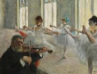 The Rehearsal Edgar Degas Print Fine Art CANVAS Giclee Poster Reproduction Small