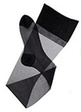 """1PR 15 Den FullWelt Plain Knit XXLong RHT Nylons Stockings 11XXLx43-44""""  Jet Blk"""