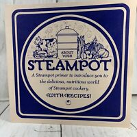 Rare Taylor and Ng Steampot Recipes Brochure 1977 Vintage