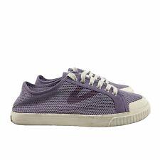 Tretorn Women's Tournet Cotton Net Sneakers Purple Sz 7.5 Lace Up Round Toe