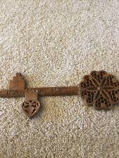 India Vintage Wood Key Holder Hand Carved Hanger Wall Mount
