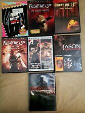 Friday the 13 DVD Set. Parts 2,4,5,6,7,8,9,10,Freddy VS Jason and The Remake