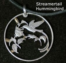 Hummingbird Cut Coin From Jamaica Quarter Jewelry Pendant
