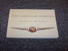 1999 Chrysler Intrepid Owner Owner's Operator User Guide Manual ES 2.7L 3.2L V6