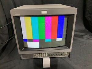 "Sony PVM-14M2U Trinitron 14"" color CRT Monitor great for  retro gaming"