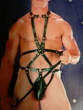 Men's GAY Fetish Leather Harness (211), one size fits most $39.99