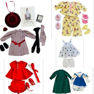 """LARGE LOT OF DOLL CLOTHES FOR 18"""" AMERICAN GIRL SAMANTHA + BOOK"""