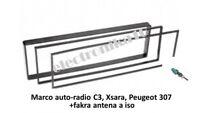 Marco montaje radio Peugeot 307 Citroen C3, Xsara espaciador kit + fakra antena