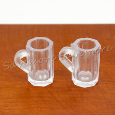 2X Beer Cup Miniature Dollhouse Kitchen Bar Drink For Re-ment Xmas Decor Gift