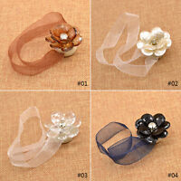 Magnetic Tiebacks Curtain Tie Back Crystal Mesh Curtain Holdback Ribbon 1PC New