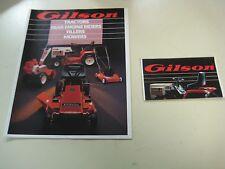 Gilson Lawn Tractor Garden Sales Brochures  1985