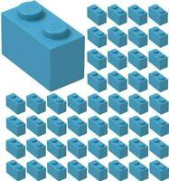 ☀️Lego x50 DARK AZURE BLUE 1x2 Bricks Part Pieces Bulk Lot Legos #3004