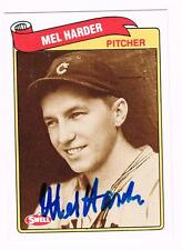 MEL HARDER autographed 1989 Swell Baseball card CLEVELAND INDIANS late legend