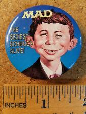 "Mad Magazine ""The Sexiest Schmuck Alive"" 1993 Comic Book Button/Pin"