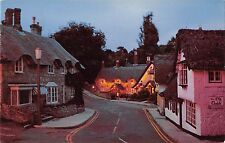 B104015 evening at the old village shanklin isle of wight    uk