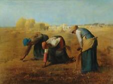 THE GLEANERS Jean Francois Millet BARBIZON Realism VINTAGE Litho #448