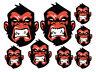 ATV Surf Bike Mad Crazy Monkey bad 8 stickers decals Car Motorbike Helmet /183
