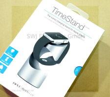 TimeStand ohne Ladegerät JustMobile für Apple Watch Tischhalterung silber