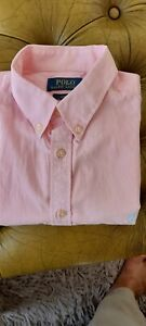 """Ladies Polo Ralph Lauren Long Sleeve Shirt Slim Fit 20"""" Pit To Pit"""