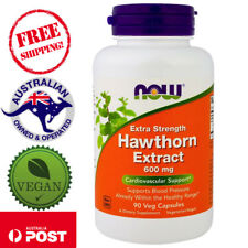 Now Foods, Hawthorn Extract, Extra Strength, 600 mg, 90 Vegan Capsules