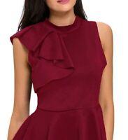 Women's Sleeveless Asymmetric Ruffle Side Peplum Top T-shirt Blouse PullOver Wom
