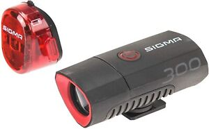 SIGMA Buster 300 Head Light w/ Nugget II Flash Taillight, for Night Rides, Races