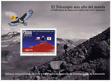 Chile 2010 Block Souvenir - Astronomy Mini Tao - Highest Telescope in the world
