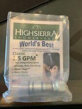 High Sierra's Solid Metal 1.5 GPM High-Efficiency, Low Flow Shower Head: Chrome