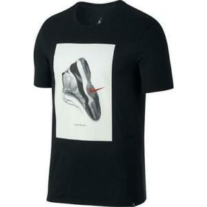 Mens Air Jordan Retro 11 T Shirt 914459-010 Black/White NEW Size L