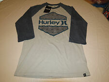 Hurley Men's 3/4 Sleeve t shirt tee S Wedged Premium Fit mtsswedm 01V small Mens