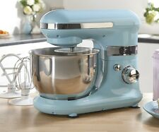Blue Electric Stand Mixer With Bowl & Attachments -6 Speed - Baking Cakes